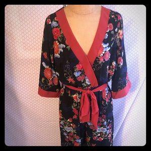 Floral kimono jumpsuit